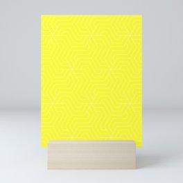 Yellow (RYB) - yellow - Modern Vector Seamless Pattern Mini Art Print