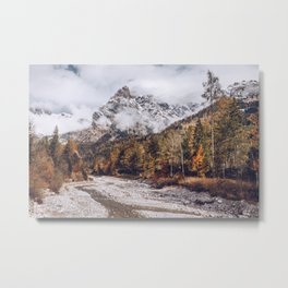 Nebelgebirge - Autumn the Austrian mountains Metal Print