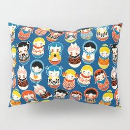 Babushka dolls vibrant pattern Pillow Sham