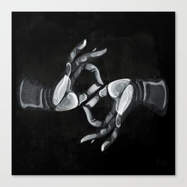Lotus Hands II Canvas Print