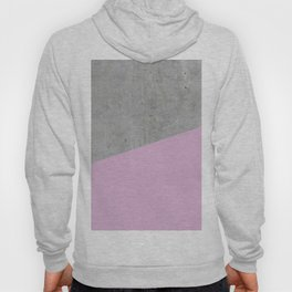 Concrete with Pink Lavender Color Hoody