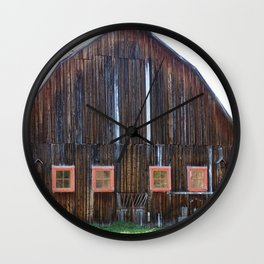 Rustic Old Country Barn Wall Clock