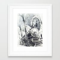 train Framed Art Prints featuring Train by Grim Dream Art