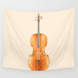 Cello - Watercolors Wall Tapestry