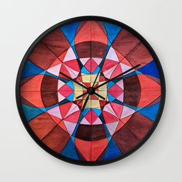 Pink and Blue Wall Clock