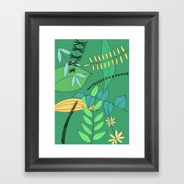 Green Leaves Framed Art Print