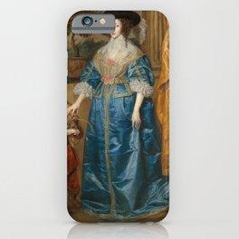 """Sir Anthony van Dyck """"Queen Henrietta Maria with her dwarf, Sir Jeffrey Hudson"""" iPhone Case"""
