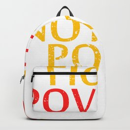 """Let's End Poverty! Let's Reflect On A Shirt Saying """"Fight Poverty Not The Poor"""" T-shirt Design Backpack"""