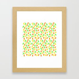 Citrus Fruits, Lemons, Limes and Oranges Framed Art Print