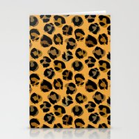 leopard Stationery Cards featuring Leopard by Julia Badeeva