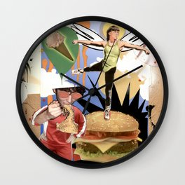 COLLAGE: Diet Wall Clock