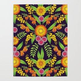 Australian Wildflowers Poster