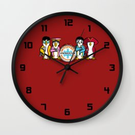 Sgt. Popper's Penguin Marching Band Wall Clock