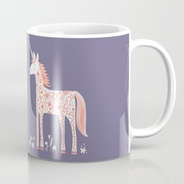 Unicorn with Flowers Coffee Mug
