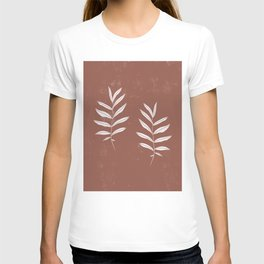 Abstract Leave Pattern T-shirt