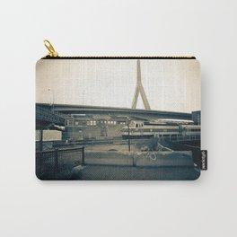 Train Track Desolation with Zakim Bridge Carry-All Pouch