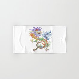 Bright and Vivid Chinese Fire Dragon Vector Hand & Bath Towel