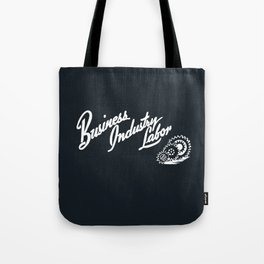 Business Industry Labor in White with Gears Tote Bag