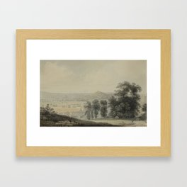 Francis Danby Irish, worked in England 1793 - 1861 Bristol, a View from Clifton Hill Framed Art Print