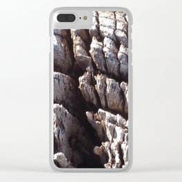 Ocean washed tree stump pattern Clear iPhone Case