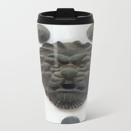Cartagena Lion Mug, Colombia, South American Metal Travel Mug