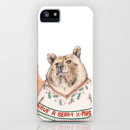 Have A Bear-Y Christmas iPhone Case