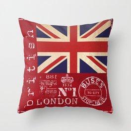 Union Jack Great Britain Flag Throw Pillow