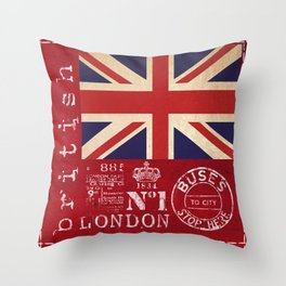 Union Jack Great Britain Flag Throw Pillow