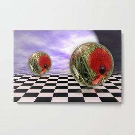Poppy flower in the sky Metal Print
