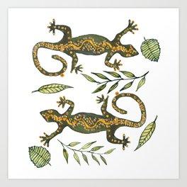 Lady Gecko Art Print