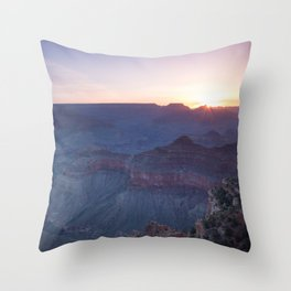Beautiful Sunrise in the Grand Canyon Throw Pillow