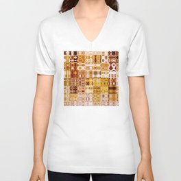 Amber Gypsy Mosaic | Retro Abstract | Nadia Bonello | Canada Unisex V-Neck