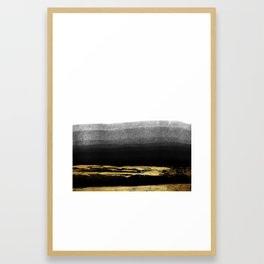 Black & Gold Stripes on White - Mix & Match with Simplicty of life Framed Art Print