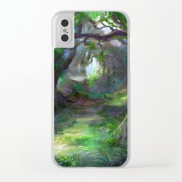 Elven Forest Clear iPhone Case