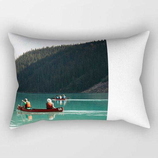 Lake Canoe Rectangular Pillow