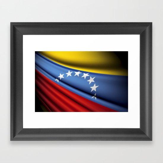 Flag of Venezuela Framed Art Print
