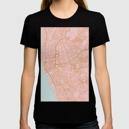 Liverpool map, UK T-shirt