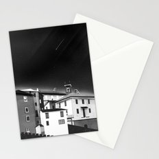 Castles at Night (B&W) Stationery Cards