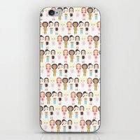 spice girls iPhone & iPod Skins featuring Spice Girls Pattern by Ricky Kwong