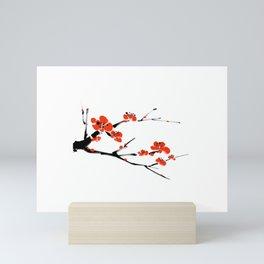 Asian style painting - Plum Blossom Mini Art Print