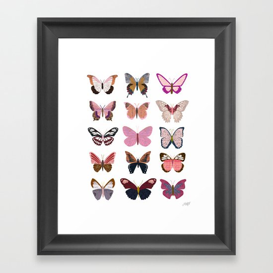 Pink Butterflies by lindseykaynichols