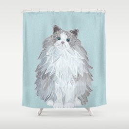 Aurora Ragdoll Shower Curtain