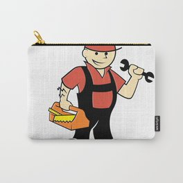 Cartoon handyman with tools Carry-All Pouch