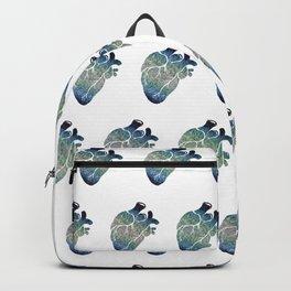 Blue flower heart Backpack