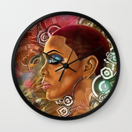 Ethereal Sister I Wall Clock
