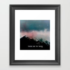 There are No Rules Framed Art Print