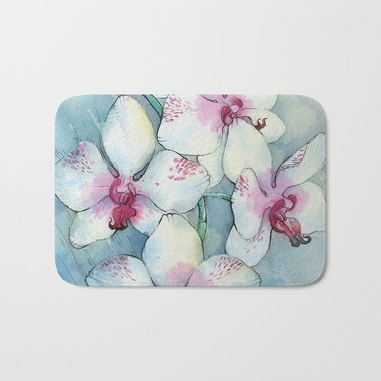 Orchids 01 Bath Mat