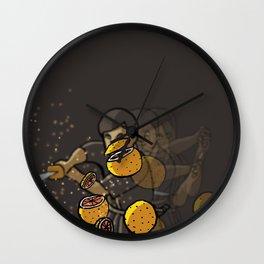 Grapefruit samurai Wall Clock