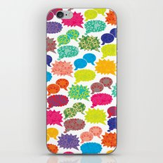 Speech Bubbles iPhone Skin