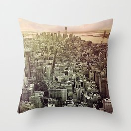 moody Manhattan Throw Pillow